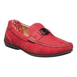 Men's Stacy Adams Cyrus Moc Toe Bit Loafer 25173 Red Synthetic