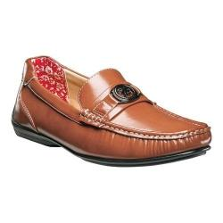 Men's Stacy Adams Cyrus Moc Toe Bit Loafer 25173 Tan Smooth Synthetic