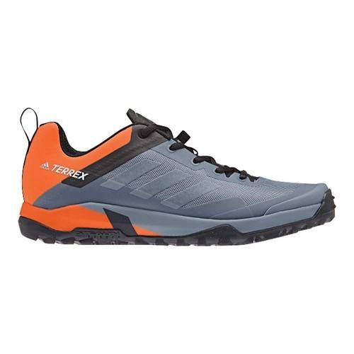 e4b5e06b41d186 Shop Men s adidas Terrex Trail Cross Sl Bike Hiking Shoe Raw Steel Grey  One Orange - Free Shipping Today - Overstock - 19981308