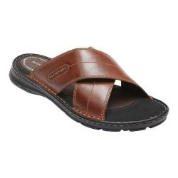 Men's Rockport Darwyn Xband Slide Coach Brown Leather