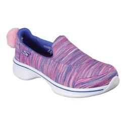 Girls' Skechers GOwalk 4 Rally Spirit Slip-On Walking Shoe Blue/Multi