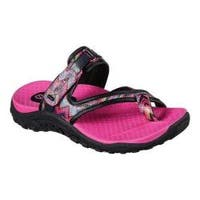 Girls' Skechers Reggae Summers Toe Loop Sandal Black/Multi
