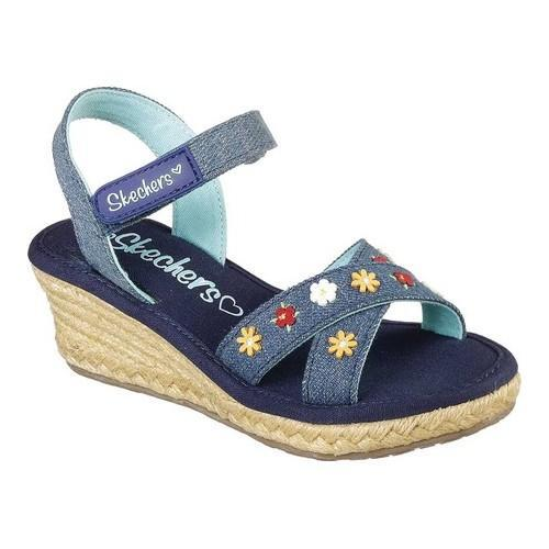 2edb56b215fe Shop Girls  Skechers Tikis Wild Blooms Wedge Sandal Denim - Free Shipping  On Orders Over  45 - Overstock - 19981804