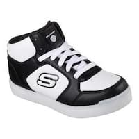 Children's Skechers S Lights Energy Lights E-Pro High Top Sneaker Black/White