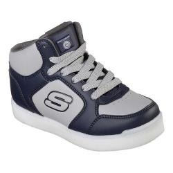 Children's Skechers S Lights Energy Lights E-Pro High Top Sneaker Navy/Gray