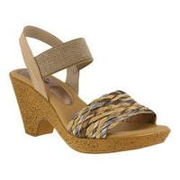 Women's Spring Step Batsheva Slingback Sandal Beige Leather