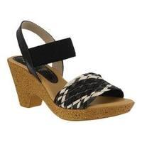 Women's Spring Step Batsheva Slingback Sandal Black Multi Leather