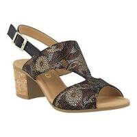 Women's Spring Step Fiorentina Slingback Black Multi Leather