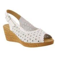 Women's Spring Step Malana Slingback White Leather