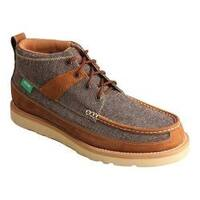 Men's Twisted X Boots MCA0018 Casual Driving Moc Dust/Brown Canvas