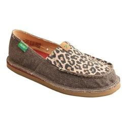 Women's Twisted X Boots WCL0001 Casual Loafer Dust/Leopard Canvas