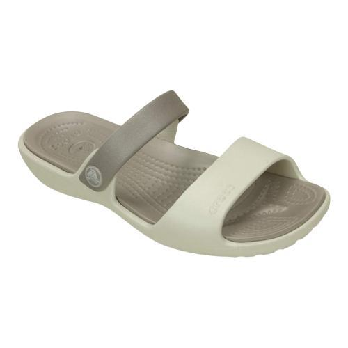 bf37ae2c8c79 Shop Women s Crocs Coretta Slide Oyster Platinum - Free Shipping On Orders  Over  45 - Overstock - 19988907