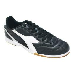 Men's Diadora Capitano Indoor Soccer Shoe Black/White/Silver