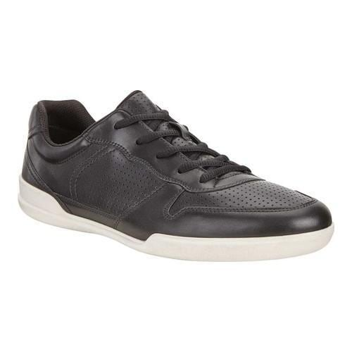 f168a40679a7 Shop Men s ECCO Enrico Perforated Sneaker Black Cow Leather - Free Shipping  Today - Overstock - 19988933