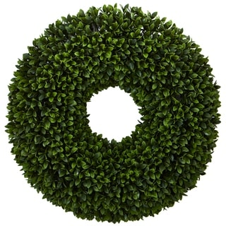 "24"" Boxwood Artificial Wreath"