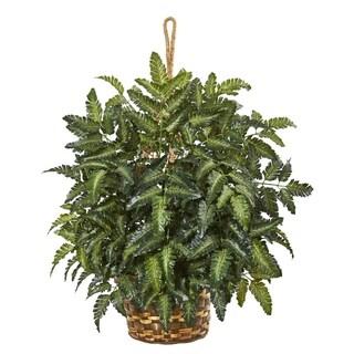 "30"" Bracken Fern Artificial Plant in Hanging Basket"