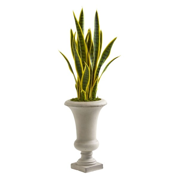 Nearly Natural 3-foot Sansevieria Artificial Plant in Urn