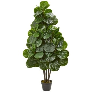 Nearly Natural Fiddle Leaf Fig Green/Brown Artificial Tree