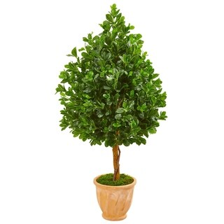 Nearly Natural Evergreen 58-inch Artificial Tree in Terra Cotta Planter
