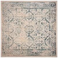 "Safavieh Evoke Vintage Geometric - Beige / Turquoise Rug - 6'7"" x 6'7"" square"