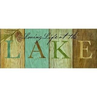 Rustic Lake & Lodge Wall Sign - Lake