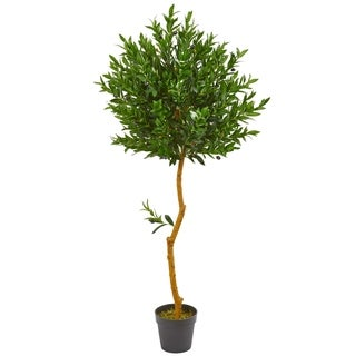 Nearly Natural Olive Topiary 58-inch UV Resistant Artificial Tree