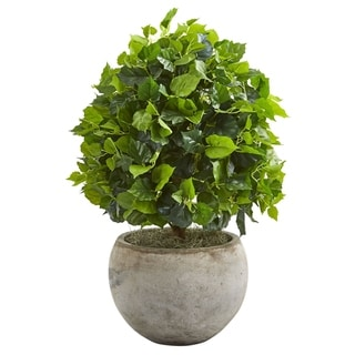 Nearly Natural 28-inch Ficus Artificial Tree in Bowl Planter