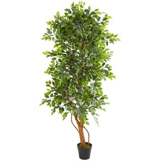 Nearly Natural 6-foot Elegant Ficus Artificial Tree