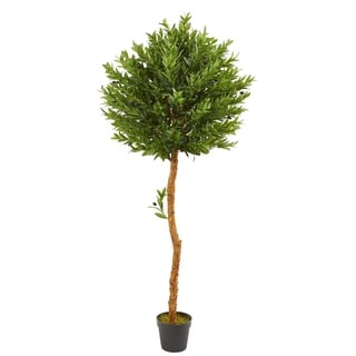Nearly Natural 5'5 Olive Topiary UV Resistant Indoor and Outdoor Artificial Tree
