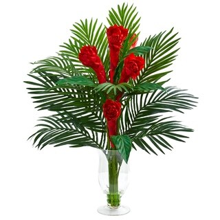 Link to Nearly Natural Ginger Torch Artificial Arrangement in Glass Vase Similar Items in Decorative Accessories