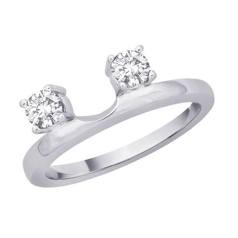 14K White Gold 3/8ct TDW Diamond Bridal Ring Guard (I-J, I1)