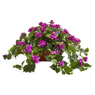 Bougainvillea Artificial Plant in Hanging Basket