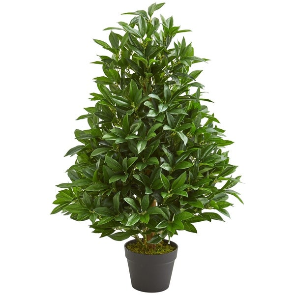 3' Bay Leaf Artificial Topiary Tree UV Resistant (Indoor/Outdoor). Opens flyout.