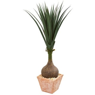 Nearly Natural Yucca with Terracotta Planter Artificial Plant