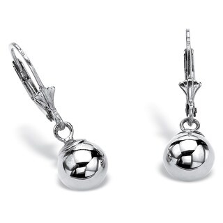 Sterling Silver Drop Earrings (23x7.5mm)