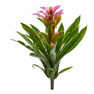 "15"" Bromeliad Artificial Flower (Set of 4)"