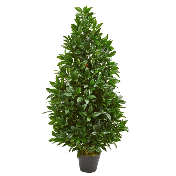 4' Bay Leaf Artificial Topiary Tree UV Resistant (Indoor/Outdoor). Opens flyout.