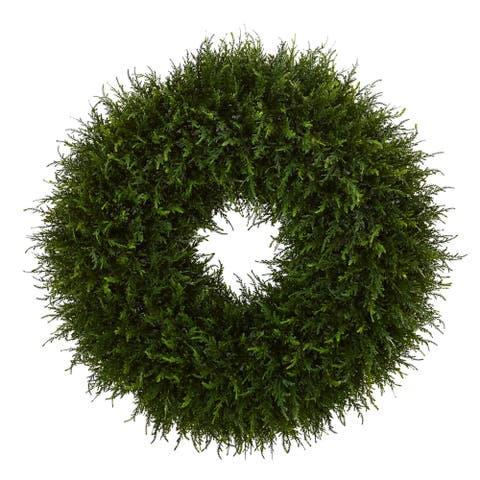 "32"" Giant Cedar Artificial Wreath"