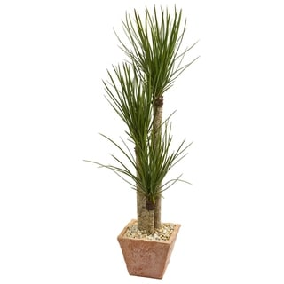 Nearly Natural 5-foot Yucca Artificial Tree in Terra Cotta Planter