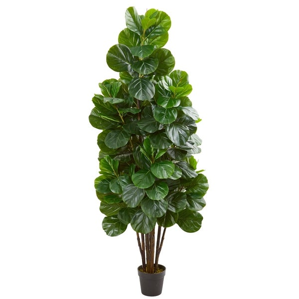 Shop Nearly Natural Fiddle Leaf Fig 6 Foot Artificial Tree Free
