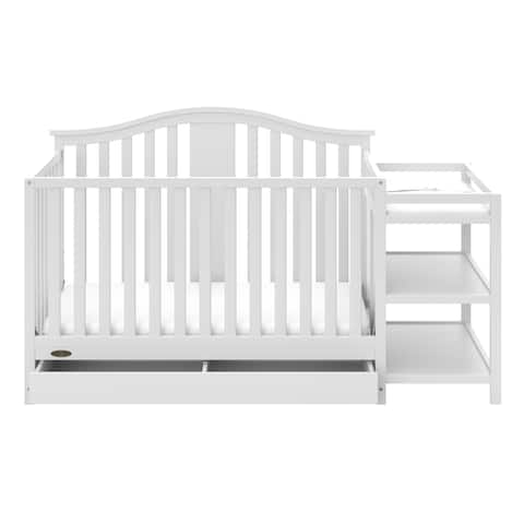 Graco Solano 4-in-1 Convertible Crib and Changer with Drawer - Converts to Toddler Bed, Daybed, and Full-Size Bed