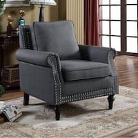 U.S. Pride Furniture Linen Upholstery Armchair