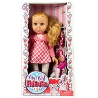 "18"" My Best Friend Doll in a Pink & White Shirt and White Leggings"