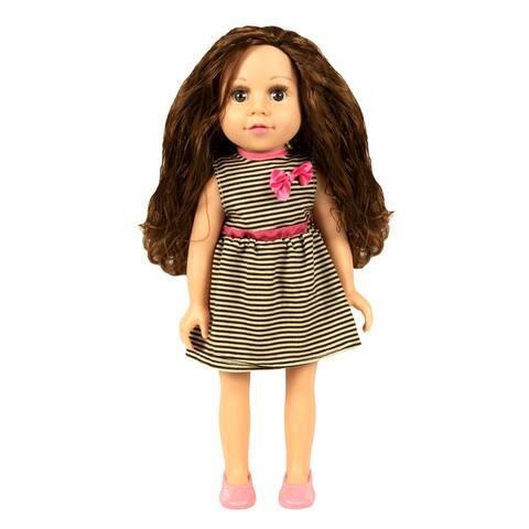 "18"" My Best Friend Doll in a Black & White Striped Dress"