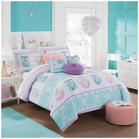 Waverly Kids Hoo Dreams Reversible Comforter Set - Multi
