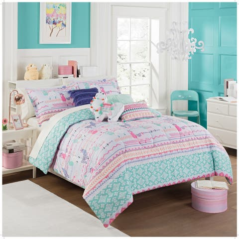 Waverly Kids La La Llama Reversible Comforter Set - Multi
