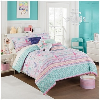 Link to Waverly Kids La La Llama Reversible Comforter Set Similar Items in Kids Comforter Sets