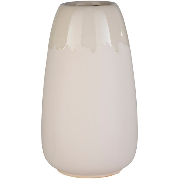 Nira Beige Ceramic Medium Indoor/ Outdoor Vase