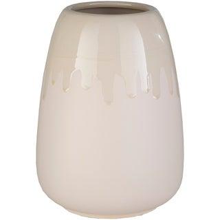 Nira Beige Ceramic Small Indoor/ Outdoor Vase