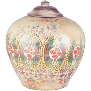 Leila Khaki Boho Medium Terracotta Vase
